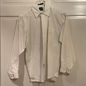 Vintage Gap, white, oxford shirt. Boys XXL.